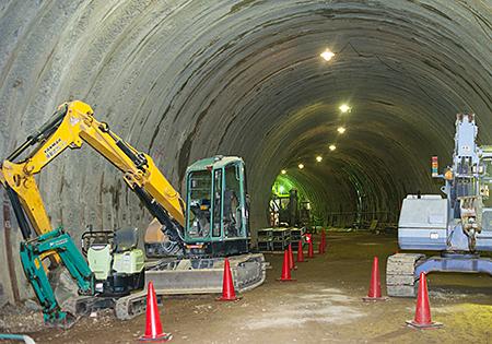 出会トンネル作業所及び下天見トンネル作業所 現場見学会
