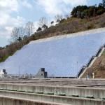 御所浄水場太陽光発電設備の写真