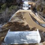 川尻地区道路改良の写真
